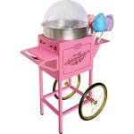 Розовая тележка сладкой ваты